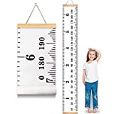 MIBOTE Baby Growth Chart Handing Ruler Wall Decor for Kids, Canvas Removable Growth Height Chart 79' x 7.9'