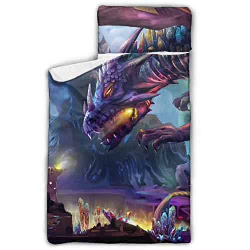 WYYWCY Dragon Planet Danger Dragon Trinken Schlafsäcke Kinder Kinder Nickerchen Matte Jungen Mit Decke Und Kissen Rollup Design Ideal Für Vorschulkindergarten Sleepovers 50