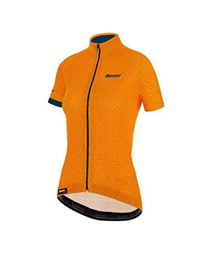Santini Abbigliamento Ciclismo Donna Maglia Estiva Giada Hip (M, Giallo)