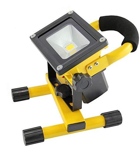 SAILUN 10W LED projecteurs Blanc Chaud Lampe à la main Rechargeable Avec Batterie, Portable Adaptateur et Chargeur de Voiture inclus, IP65 Jaune