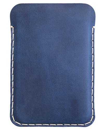 Leder Tasche für Microsoft Surface Duo (mit Bumper), Cover blau, Made in Europe