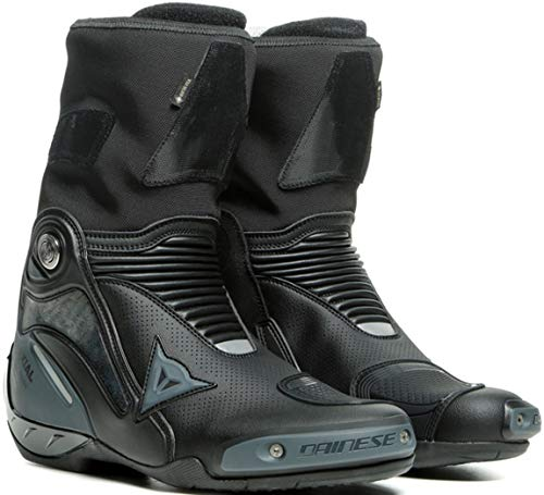 Dainese Axial Gore-Tex Botas impermeables para motocicleta, color negro/gris, talla 47