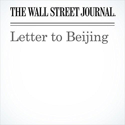 Letter to Beijing copertina