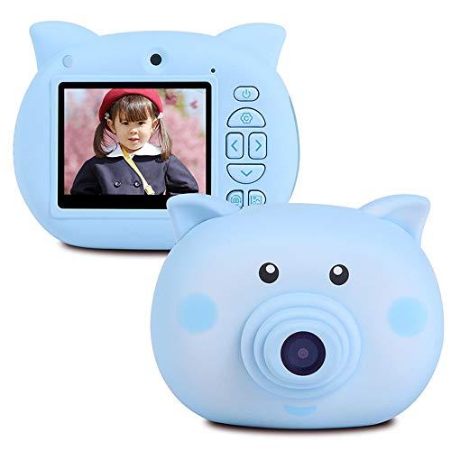 Electronic product Z-XILI Kinderdigitalkamera 2,3-Zoll-Bildschirm elektronischer Zeitraffer-Spielzeug Spielzeug-Kamera, 10 Kameras-Eisblau und Kirschblüten-Pulver (Color : Blue)