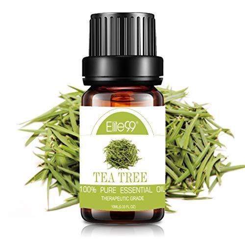 Elite99 Aromatherapie Ätherisches Öl für Diffuser - Naturreines Aroma Duftöle, Entspannen Körper Essential Oil 10ML - Teebaumöl
