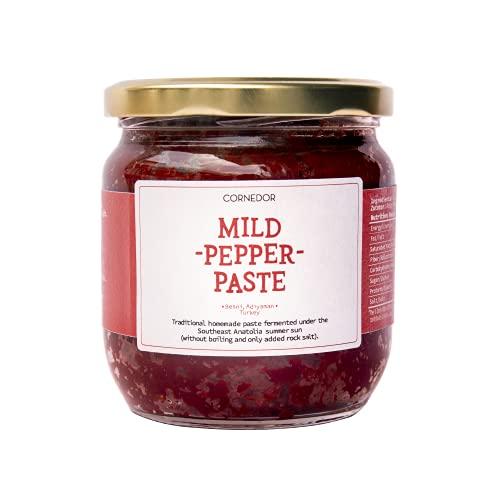 CORNEDOR   Milde peper Peste – Biber Salçası   420 gr   Non – GMO, geen toevoegingen of conserveringsmiddelen   Ideaal…