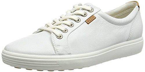 ECCO SOFT7W-430003, Scarpe da Ginnastica Basse Donna, Weiß White01007, 38 EU