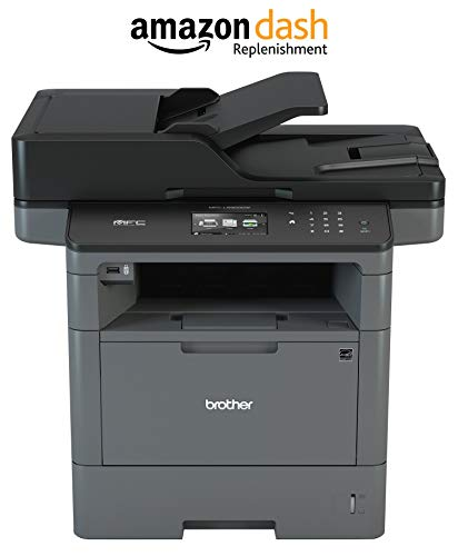 Brother Monochrome Laser Printer, Multifunction Printer, All-in-One Printer, MFC-L5900DW, Wireless Networking, Mobile Printing & Scanning, Duplex Print, Copy & Scan, (Renewed)