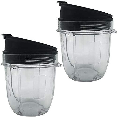 Detazhi Juicer Accessories Cup Lid for Ninja Juicer for Nutri Ninja 12Oz CUP 12 Ounce Blender Jar 2 Pack of 12 Oz for Nutri Ninja Cups with Seal Lid