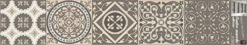 Plage Stairs Vinilos para Escaleras-Azulejos Antiguos, Beige, 100x0.1x19 cm, 3 Unidades