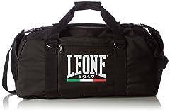 Idea Regalo - Leone 1947 AC908 Borsone a Zaino, Nero, Taglia Unica