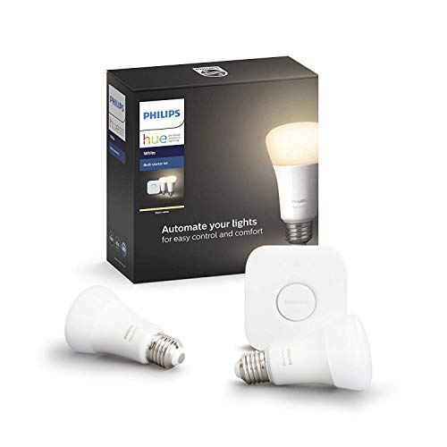 Philips Hue ホワイト スターターセット(電球色) |2700K E26スマートLEDライト2個+ブリッジ1個 |【Amazon Echo、Google Home、Apple HomeKit、LINEで音声コントロール】