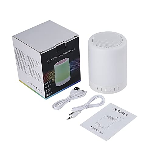 Altavoz portátil con lámpara de Humor Altavoz táctil Inteligente con Luces Manos Libres 6 Luces cambiantes de Colores