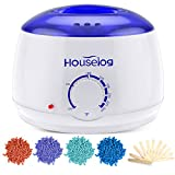 Houselog Wax Warmer Hair Removal Kit with 4 Different Hard Wax Beans