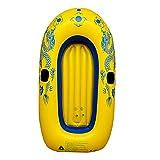 HOUADDY Canoa Inflable, Bote de Pesca Plegable Grueso de PVC para 1 Persona, Bote de Rafting Divertido para Deportes acuáticos con Remo