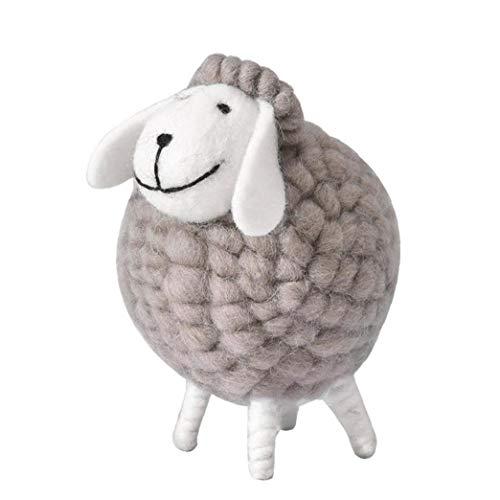 tJexePYK Decoración de Escritorio Accesorios ovejas Preciosas Fieltro Cordero ovejas de Peluche muñeca Adornos de decoración de la Tabla