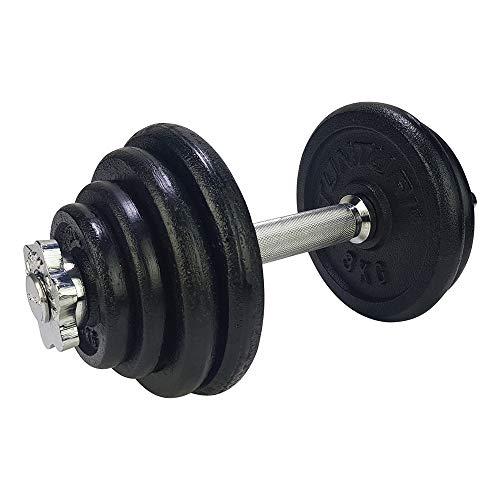 Tunturi Weight Set Mancuernas con 1 Barra Ajustable, Unisex Adulto, Negro, 15 kg