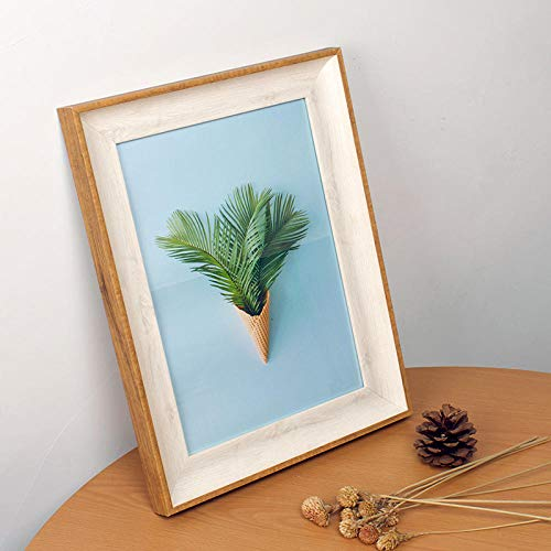 XQSSB Marco de Fotos Creativo Imágenes Pared Colgante de Madera Maciza Puede Poner 30,5 × 40,6cm Madera Blanca