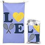 XCNGG Toalla de Playa de Microfibra, Love Tennis Manta de Toalla de Secado rápido y rápido Toallas de baño Ligeras, absorbentes Suaves y sin Arena para Playa, baño, natación, Viajes