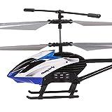 Ycco Hélicoptère RC avec jouet télécommandé 3.5 canaux et gyroscope et éclairage DEL Mini intérieur pour enfants adultes Chaînes de cadeau pour débutants Hobby Lames volantes Remplacer le crash inclus