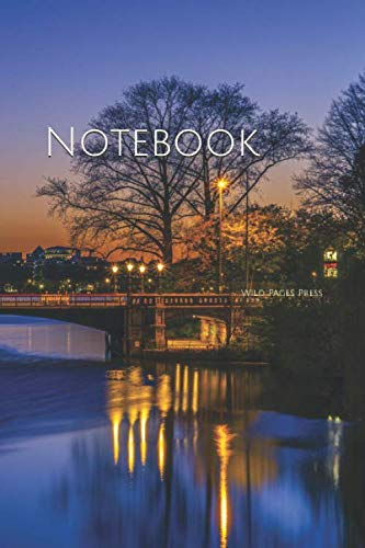 Notebook: Hamburg Alster Germany Sky Evening Night Sunset City River