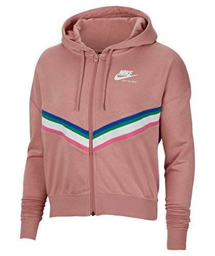 Nike W NSW HRTG FZ FLC Rust PINK/Rust PINK/White - M