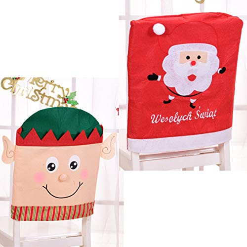 Banbie Charming Home Decoration Stuhlhussen Weihnachtsserie Home Party Holiday Weihnachtsstuhlhussen Dinner Table Decoration