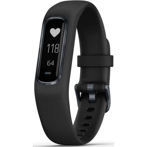 Garmin vivosmart 4 Activity & Fitness Tracker with Advanced Sleep Monitoring and Pulse Ox Sensor, Midnight Black-Small/Medium (Renewed)