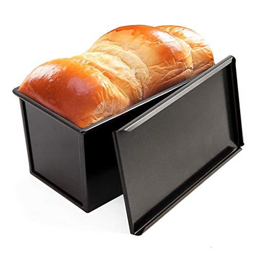 Hearthrousy Brotpfannen Toastbrot Backform mit Deckel Brotbackform Form mit Antihaftbeschichtung Backform aus Rostfreier Stahl Rechteckige Kuchenform, für Toastbrot, Käsekuchenm, 20,5 x 9,5 x 10 cm