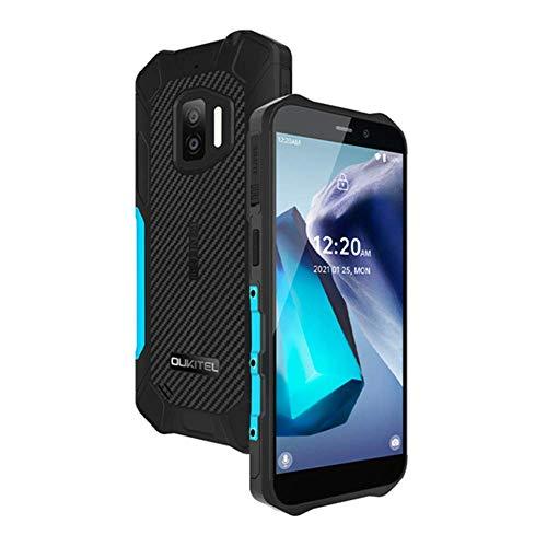 OUKITEL WP12 - Smartphone para exteriores Android 11 (sin contrato) tarjeta SIM dual IP68 resistente al agua batería de 5,5 pulgadas 4000 mAh cámara 13 MP ampliable SD 256GB pago NFC