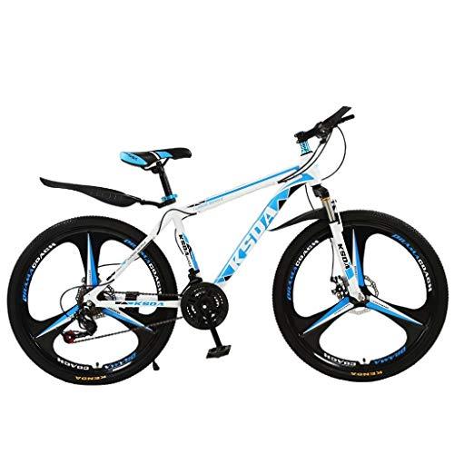 Mountain Bike for Men & Women Commuter Bike 26 Inch 21 Speed Mens Bikes Women Bikes Road Bike Outroad Folding Mountain Bike for Adults Bicycle Cruiser Bike Commute Outdoor Racing Cycling Blue & White