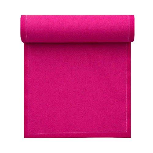 Serviette de table en coton 20x20cm - Idéale pour fête, anniversaire, cocktail - Rouleau de 25 serviettes - Fuchsia