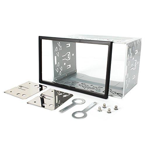 NAVISKAUTO Eisen Plastik Einbaurahmen Einbauschacht für Doppel 2 DIN Autoradio Auto DVD Player GPS Navigation(Y0013)