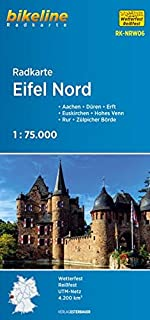 Radkarte Eifel Nord, Aachen, Köln, wasserfest und reißfest