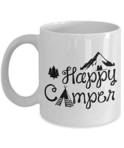 N\A Happy Camper Coffee Tea Mug Taza, Natural Life Happy Camper Camp Taza, Gentlemen 's Hardware Taza esmaltada, Crema, Vintage Teal, The BigMouth Inc Happy Ca