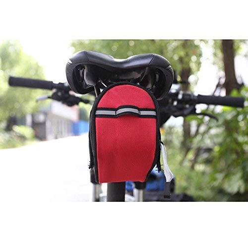 Equipo deportivo para bicicleta bolsa de almacenamiento resistente al agua gran bolsa de bicicleta / bolsa de sillín de bicicleta / bolsa trasera de bicicleta / bolsa de bicicleta bolsa de asiento trasero bolsa portaequipajes trasero para Mountain Ro, color rojo, tamaño medium