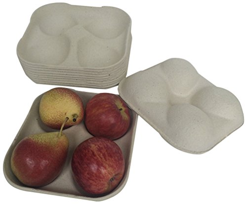 Lowest Prices! Nutley's 4-Hole Biodegradable Apple Tray (Pack of 25)