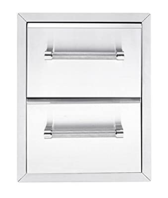 """KitchenAid 780-0016 Built-in Grill Cabinet Drawer Storage, 18"""", Stainless"""