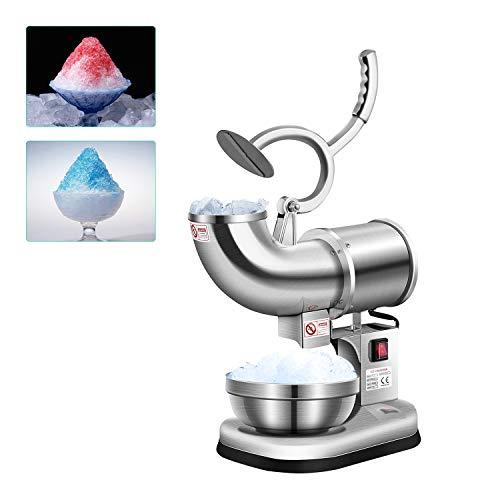 Picadora de hielo eléctrico Picadora de hielo CE Máquina trituradora de hielo eléctrica, 400lbs/ h hielo picado, bebidas de hielo, Ideal para uso doméstico y comercial