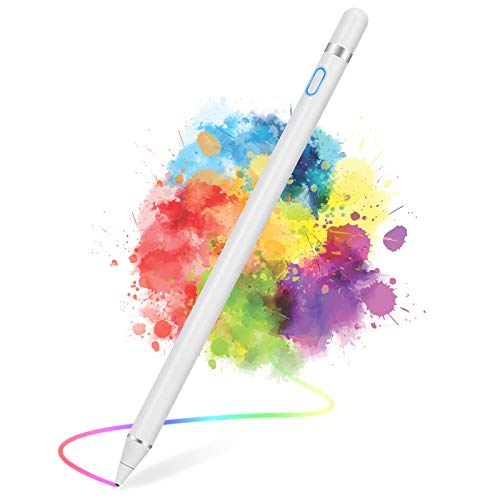 Active Stylus Pens for Touch Screens, Active Pencil Smart Digital Pens Fine Point Stylist Pen Compatible with iPhone iPad,Samsung/Android Smart Phone&Tablet Writing Drawing by maylofi (White)