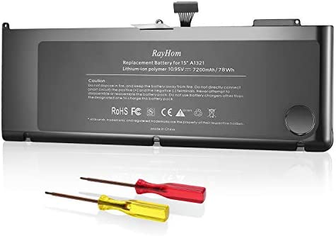 RayHom A1321 A1286 Battery for Mid 2009 Early 2010 Late 2010 MacBook Pro 15 Inch product image