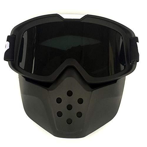 Root of all evil Gafas De Máscara Facial Retro Gafas De Carreras De Motocross Gafas De Montar Al Aire Libre@Marco Negro Arena + Pieza Gris