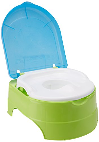 Summer My Fun Potty, Neutral  – 3-Stage Potty Training Toilet – Includes Colorful Stickers, Removable Training Seat, Non-Slip Rubber Feet, and Ability to Convert into Stepstool 3