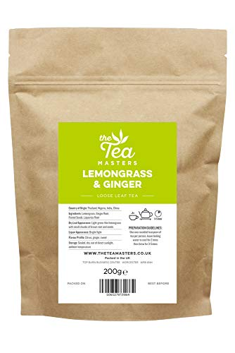 The Tea Masters Lose Blätter Zitronengras & Ingwer Tee 200g