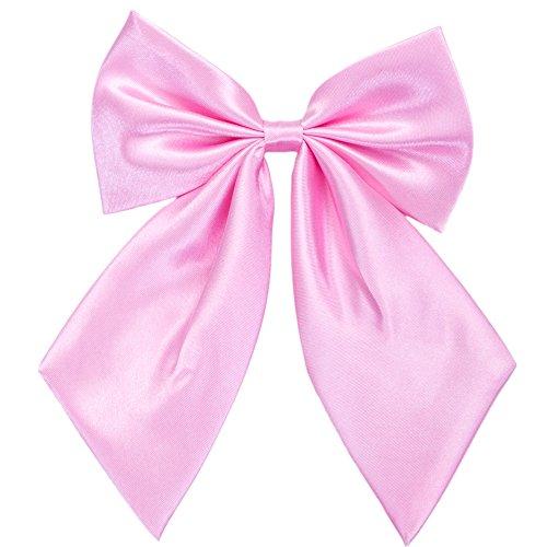 Damen Fliege Schleife Binder Schlips - 28~49 cm Länge Verstellbare Bowknot Krawatten (Rosa)