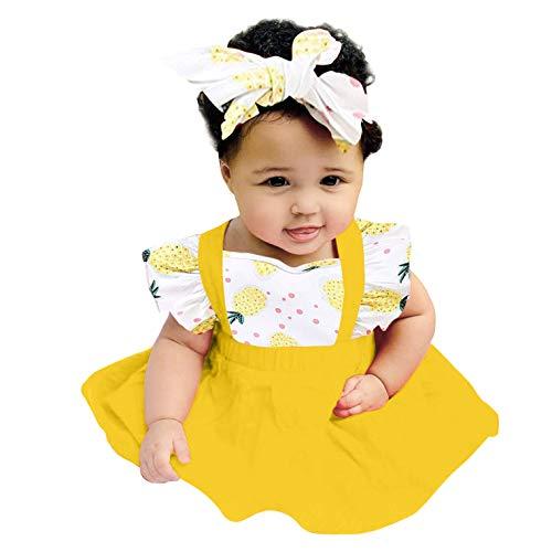 Pistazie - Conjunto de ropa para bebé niña, primer cumpleaños, conjunto de ropa de pelele + falda de tul tutú, regalo de 1 año amarillo XS