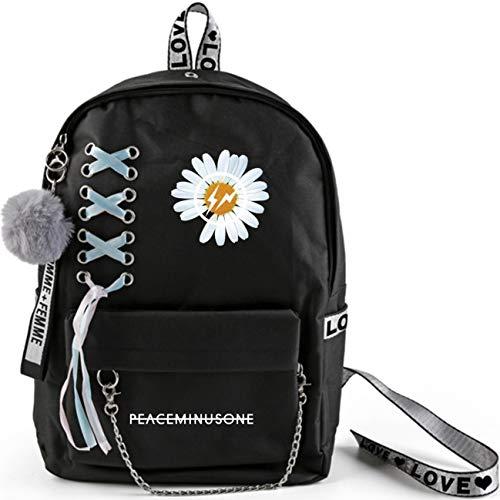 KPOP G-Dragon Rucksack Student Daypack Schultasche Geschenkwaren Laptoptasche Gänseblümchen College School Bookbag Reise Schule Canvas Bags Bigbang T.O.P Taeyang DAESUNG