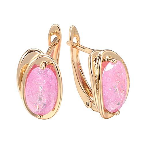 Pendientes De Botón De Circonita Rosa Natural De Lujo Para Mujer 585 Pendientes De Boda De Novia De Oro Rosa Joyería Fina De Moda 2021 Nuevo