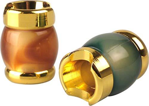 yaoviz® 2X Glutkiller für Aschenbecher Metall Marble Gold Silber bunt Sortiert schwere Qualität offen Gluttöter Glutlöscher