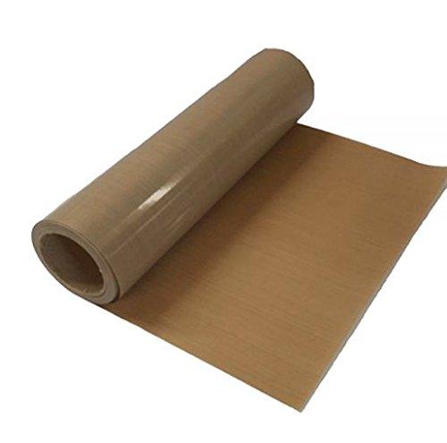 Xinghoo Rollo de lámina de teflón PTFE de 100 cm x 5 yardas con adhesivo en la parte trasera de 5 mm de grosor para transferencias de prensa de calor